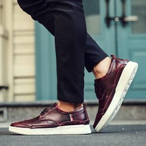 Image 4 - 2018 גברים באיכות גבוהה עור shoesmen נעליים יומיומיות Mens מבטא אירי נעלי ספורט אופנה