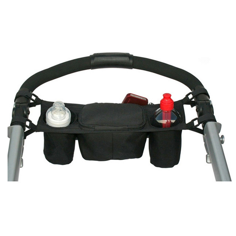 Baby Universal Cup Holder Stroller Organizer Stroller Accessories Carriage Diaper Bag Pram Buggy Cart Bag For Kids Bottles Care