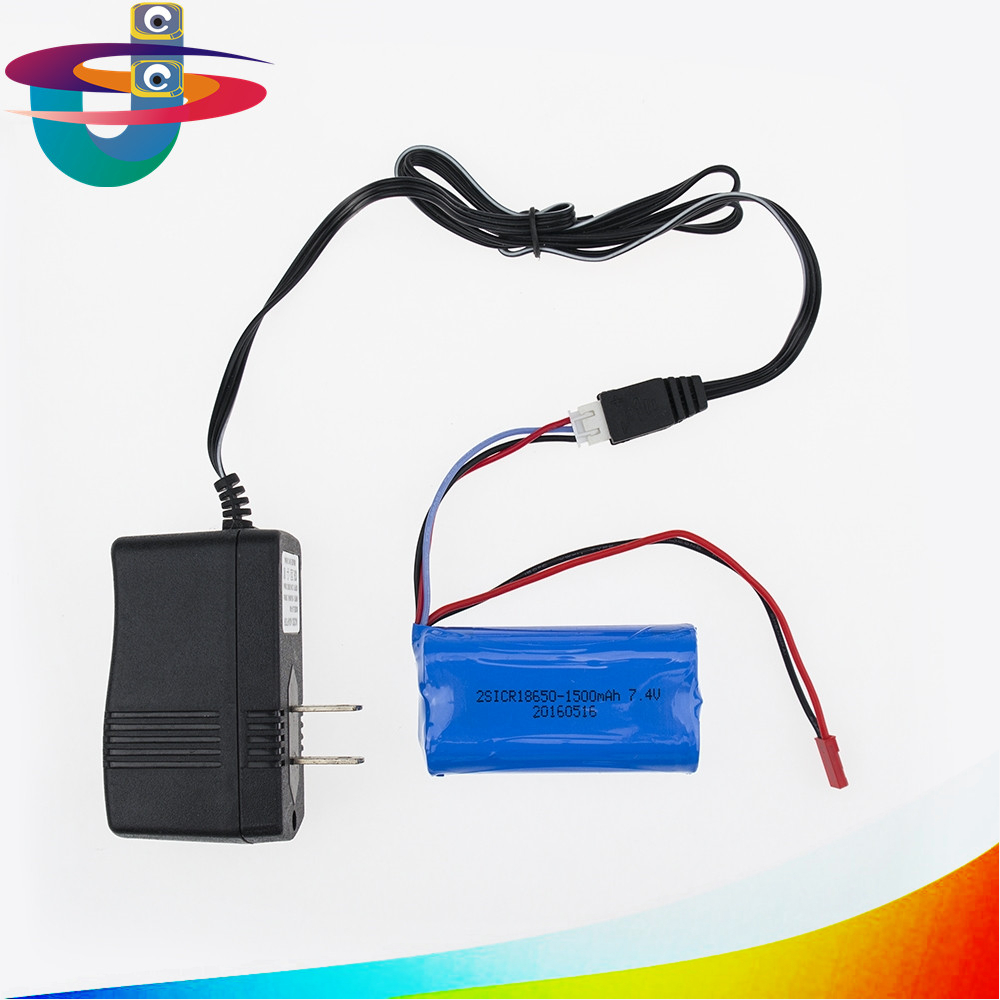 7.4V 1500mAh lithium battery with charger For Udi U12A Syma S033g Q1 Tianke H100 7.4 lithium Battery 18650 7.4 V 1500mah 15C 30a 3s polymer lithium battery cell charger protection board pcb 18650 li ion lithium battery charging module 12 8 16v