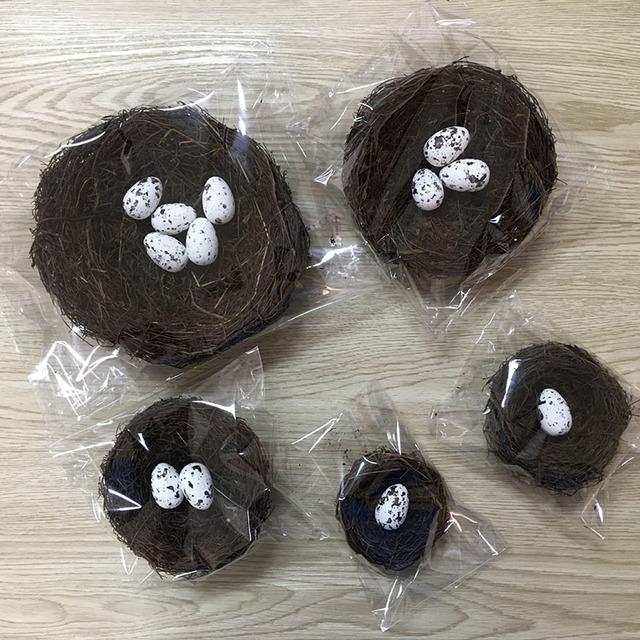 Easter artificial bird's nest foam- Easter decor items