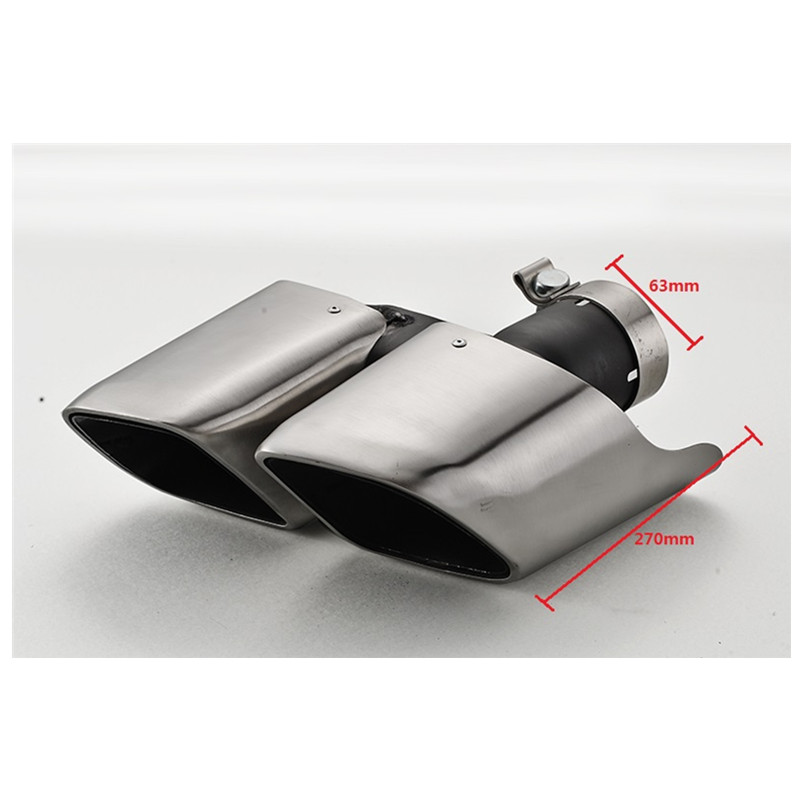 RASTP Turbo Style Silver Color Tail Exhaust Tips Muffler Pipe For Porsche 2014 Macan RS CR8105 in Mufflers from Automobiles Motorcycles