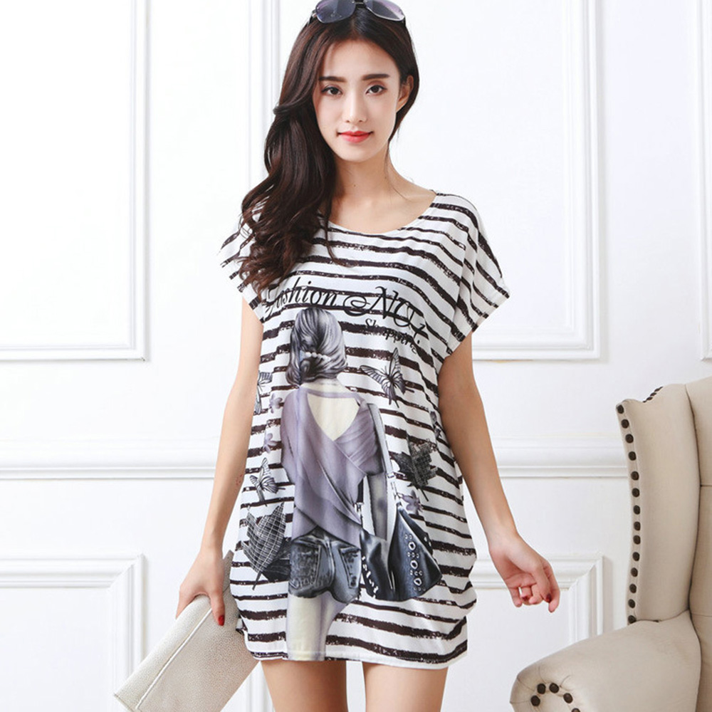Γυναικεία Loose T-Shirt Φόρεμα Καλοκαιρινό - Γυναικείος ρουχισμός - Φωτογραφία 5