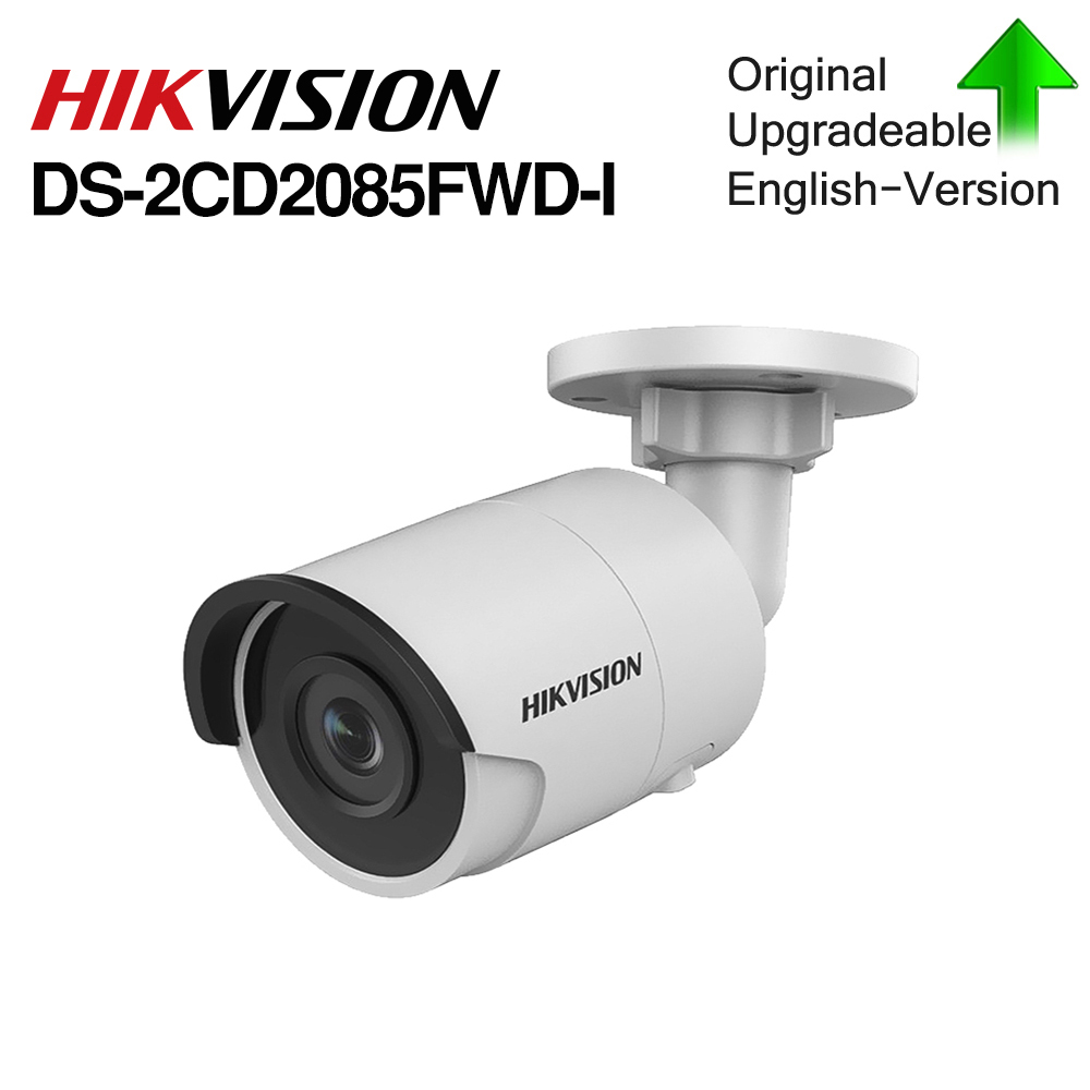 Hikvision Original  IP Camera 8MP DS-2CD2085FWD-I Bullet Network CCTV Camera Updateable POE WDR POE SD Card Slot