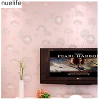 Dandelion Non Woven Wallpaper Simple Living Room Bedroom Full Of Warm And Romantic Pastoral TV Background