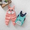 Meninos e meninas primavera novo bonitinho fox C-XBK-BDK001 soltas harem pants casuais macacão de bebê