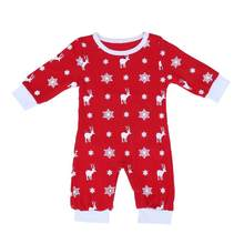 Baby Overall Children's Winter Romper Body Snowsuit Snowflake Costume New Year's Jumpsuit Infant 6 to 24month(China)