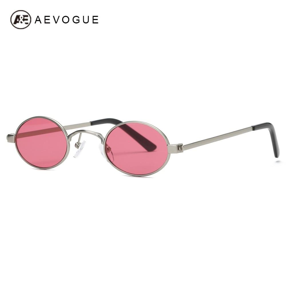 AEVOGUE gafas de sol mujer Metal Oval marco pequeño tamaño ligero ...