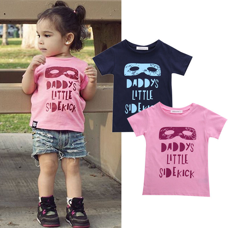 Summer Pink Blue Baby Boys Girls Batman Short Sleeve T-shirt Mask Print T shirt Camiseta Tops Age 2-7Y