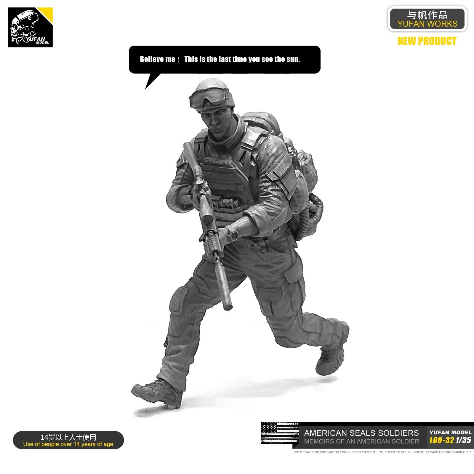 1/35 Resin Kits Figure US Navy Seal Commander Resin Soldier Sefl-assembled LOO-32