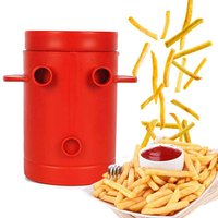 Maker Potato Slicers French Fries Maker French Fries Cutter Machine & Microwave Container No Deep Fry to Make Healthy Fries