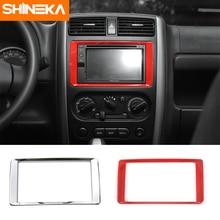 цена на SHINEKA Car Styling Dashboard Console GPS Navigation Frame Cover Trim Interior ABS Decor Car Accessories For Suzuki Jimny 2007+