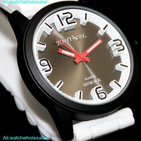 FW848B Water Resist Silicone White Band Men Women 100% Tested 3ATM Fashion Watch