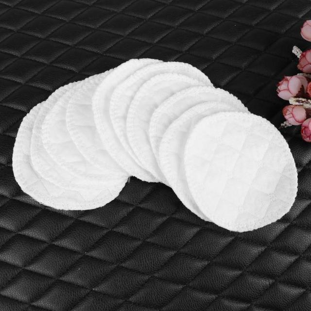 10pcs/lot 3 Layers Cotton Reusable Breastfeeding Pads Soft Absorbent Washable Reusable Cotton Nursing Pads for Mom Chest Inserts