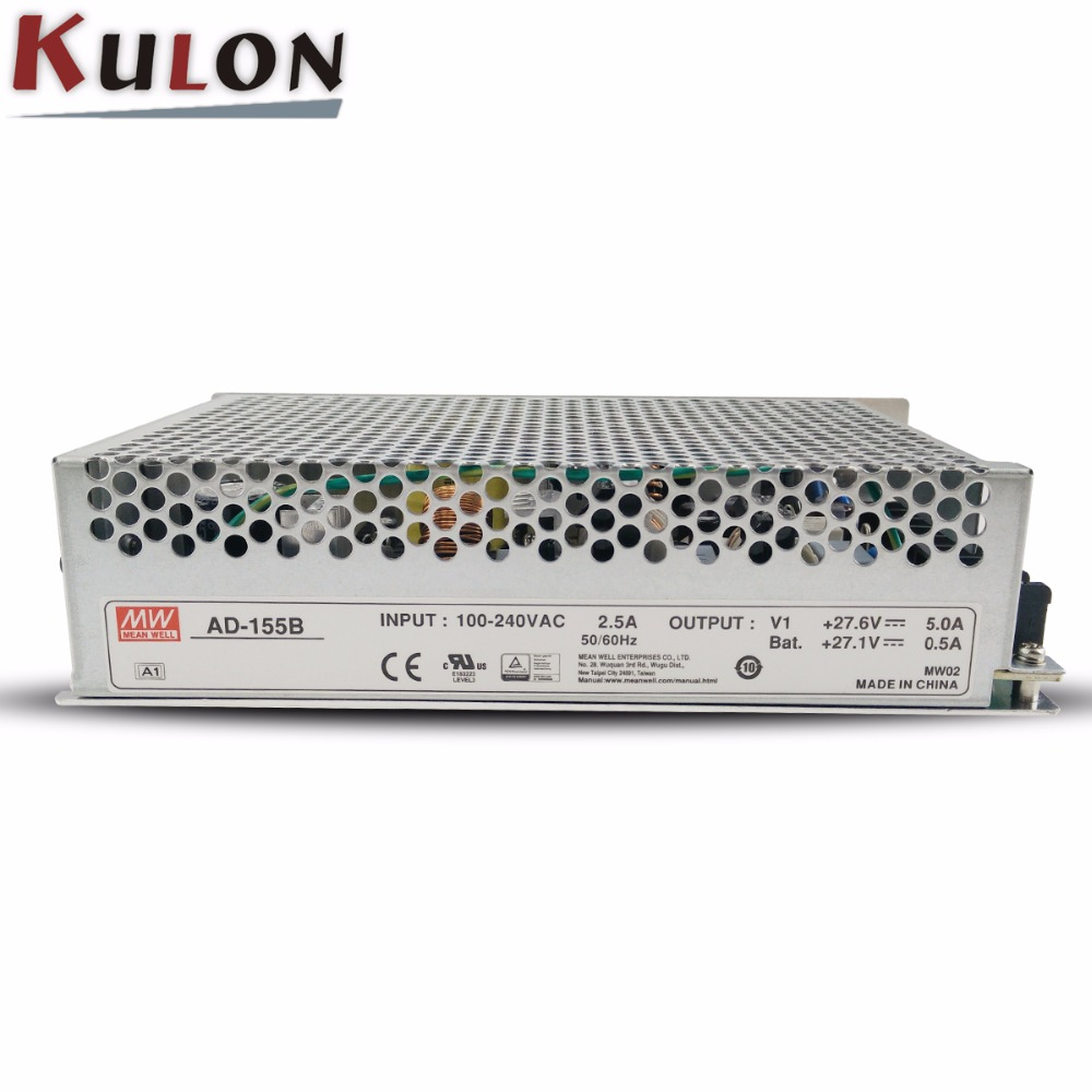 Mean Well AD-155B Switching Power Supply Ups Function 27 6V//5 0a and 27,1V//0.5 a