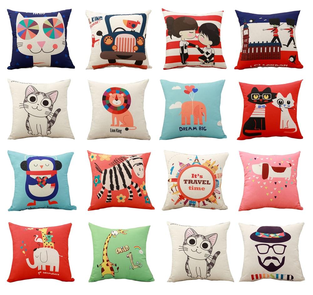 Swell Cheap Price Cute Cartoon Animals Printed Cushion Cover Throw Pillowcase Car Sofa Pillow Cover Outdoor Chair Waist Cushions Case Beutiful Home Inspiration Xortanetmahrainfo