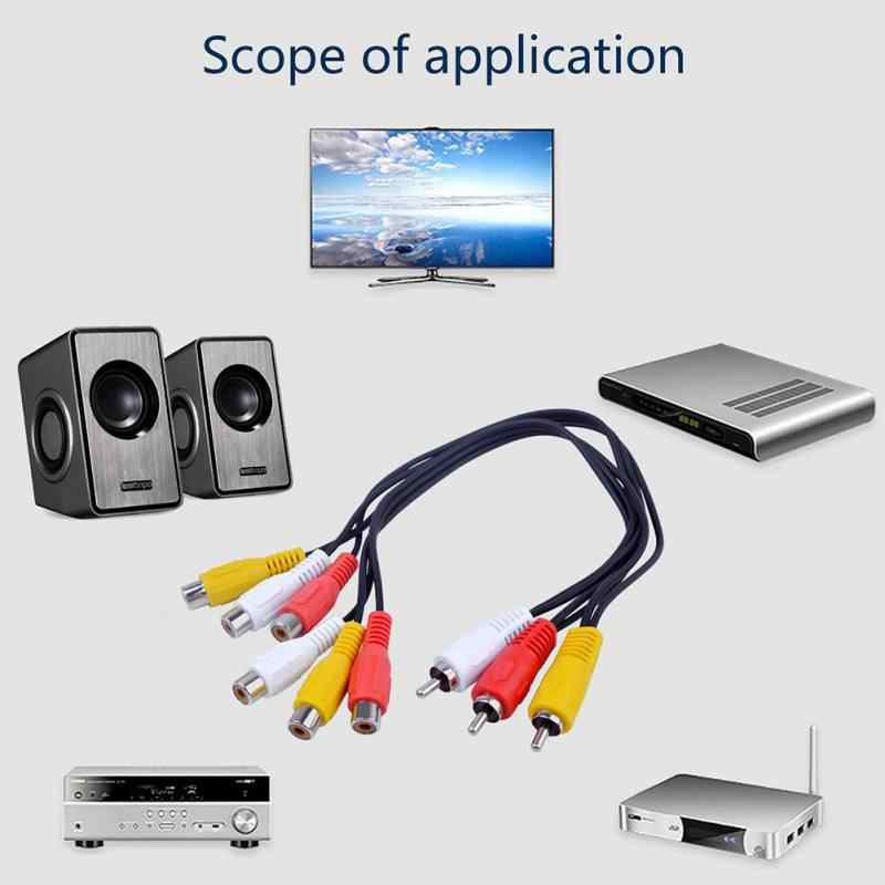 TENINYU 3 RCA Cable Splitter 3 RCA Female Jack to 6 RCA Male Plug Splitter Audio Video Av Adapter Cable 12inch