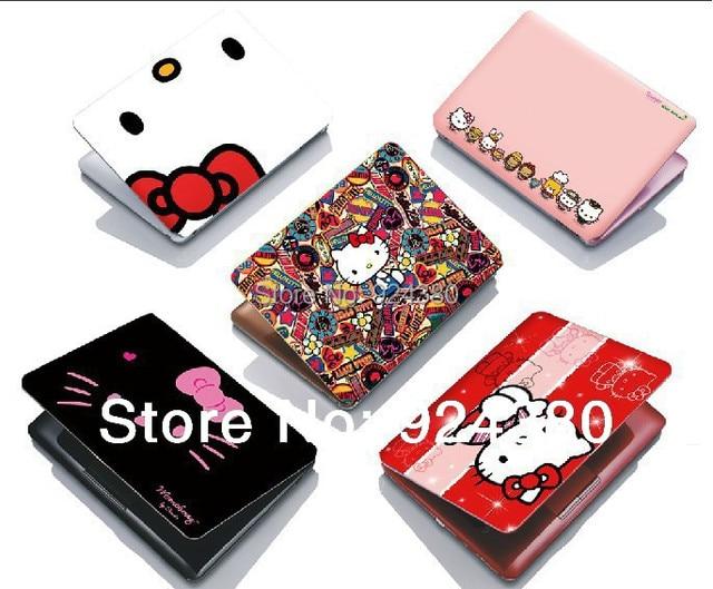 Free Ship Japan Cartoon Kitty Cat Laptop Skin Sticker In 14 15