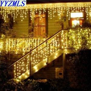 Hot 5m Droop 0.3-0.5m New year Led Christmas Lights Decoration 220V 110V EU US Plug Waterproof For Home Energy saving