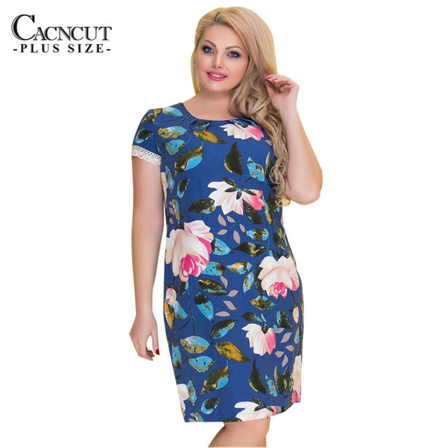 Women Red Print 5XL 6XL Big Size Dress Fashion 2018 Elegant Large Size  Office Dresses Women Summer Plus Size Work Wear Vestidos 4b02f3f223ac
