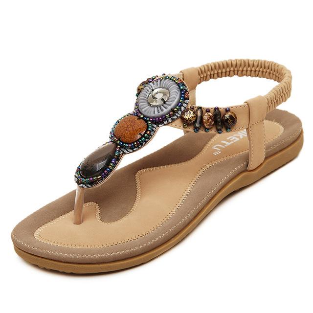 2017 Novos chegada mulheres sandálias da moda flip flops flat shoes causal Bohemia sapatas das mulheres plus size atacado