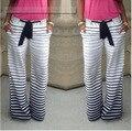 New Casual Low-Cintura Com Cordão Listrado Solta-Encaixe Calças de Praia das Mulheres 02