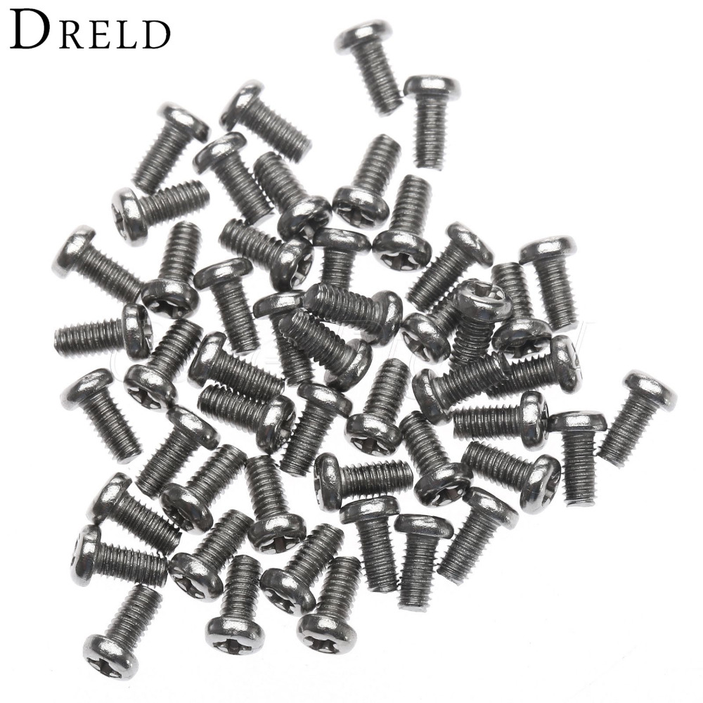 50Pcs Phillip Plain Screws and Bolts M2.5x5mm Steel Thread Computer Case Screw Nut Pan Head Fastener Machine Screws for Wood 50pcs lots carbon steel screws black m2 bolts hex socket pan head cap machine screws wood box screws allen bolts m2x8mm