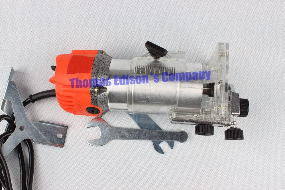 300W à 600W Aluminium housting outils électriques à bois tondeuse machine outils de menuiserie gravure avec 12 pièces ensembles de matrices - 4