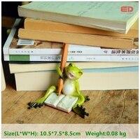 La Collecte quotidienne Grenouille Figurine Mini Fée Jardin Décoration Animal Statue Résine Artisanat Maison De Voiture D'anniversaire pour Enfants