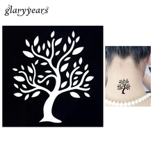 1pc Temporary Airbrush Henna Stencil For Women Body Painting Waterproof Life Of Tree Pattern Tattoo Stencil Leg Arm Art Tool G72