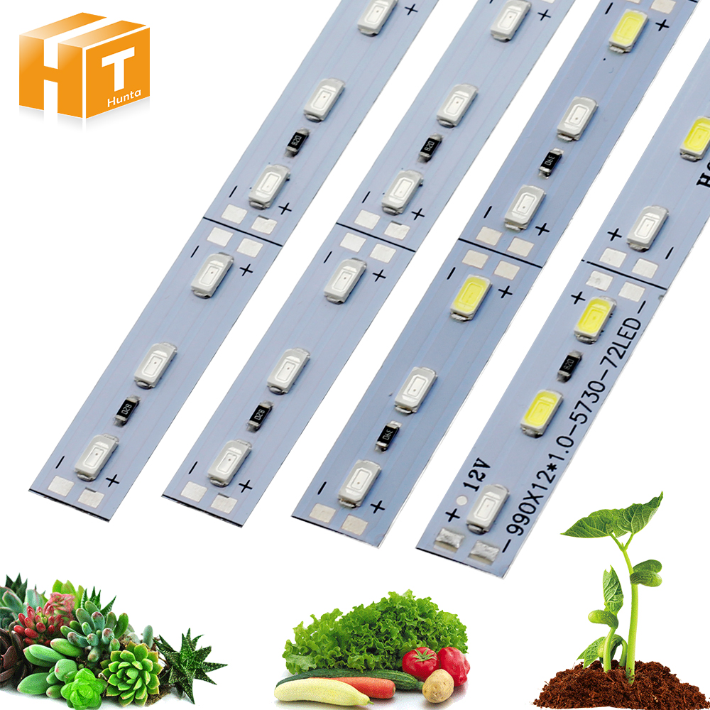 LED Grow Lights DC12V 5730 LED Bar Rigid Strip Red Blue For Aquarium Green House Hydroponic Plant 10pcs/lot
