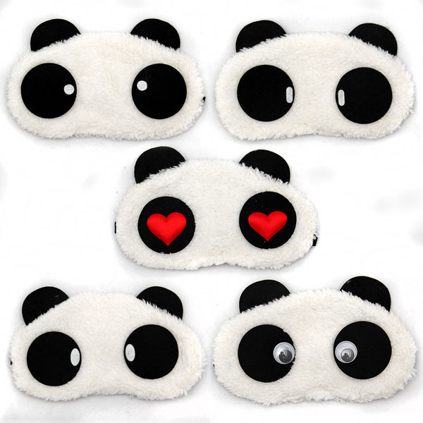 Free Shipping Panda Sleeping Eye Mask Nap Eye Shade Cartoon Blindfold Sleep Eyes Cover Sleeping Travel Rest Patch Blinder