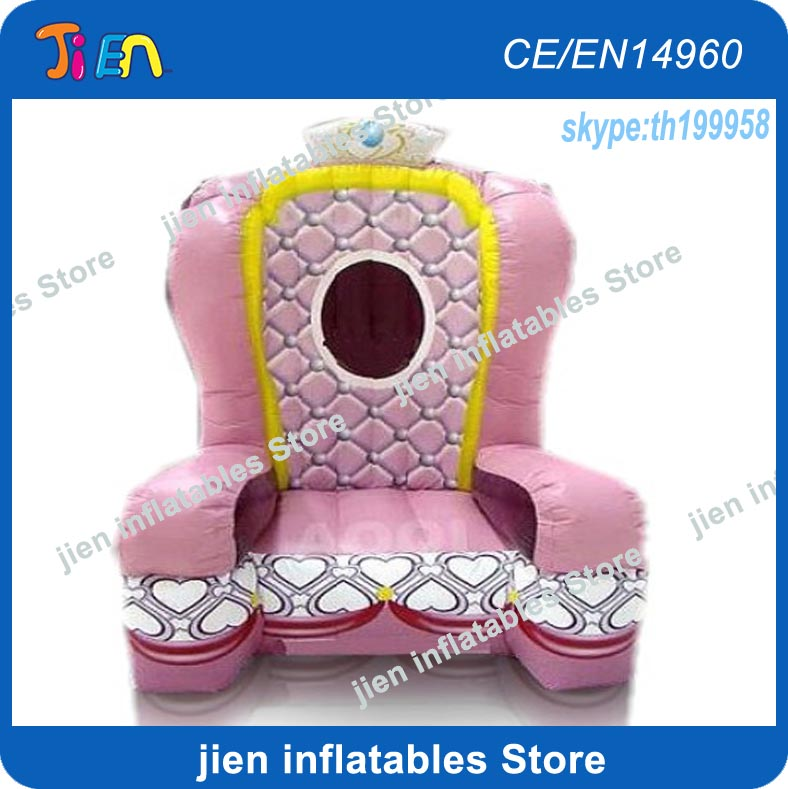 Admirable Us 500 0 Free Air Shipping To Door 2 5Mh Outdoor Birthday Party Rental Commercial Inflatable Queen Princess Throne Sofa Chair In Inflatable Bouncers Gmtry Best Dining Table And Chair Ideas Images Gmtryco