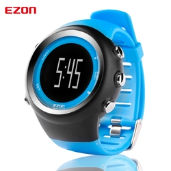 EZON GPS kalorii Teller profesjonalny Fitness Sport watch 50 M wodoodporny zegarki na rękę dla mężczyźni czarny czerwony Blauw T031