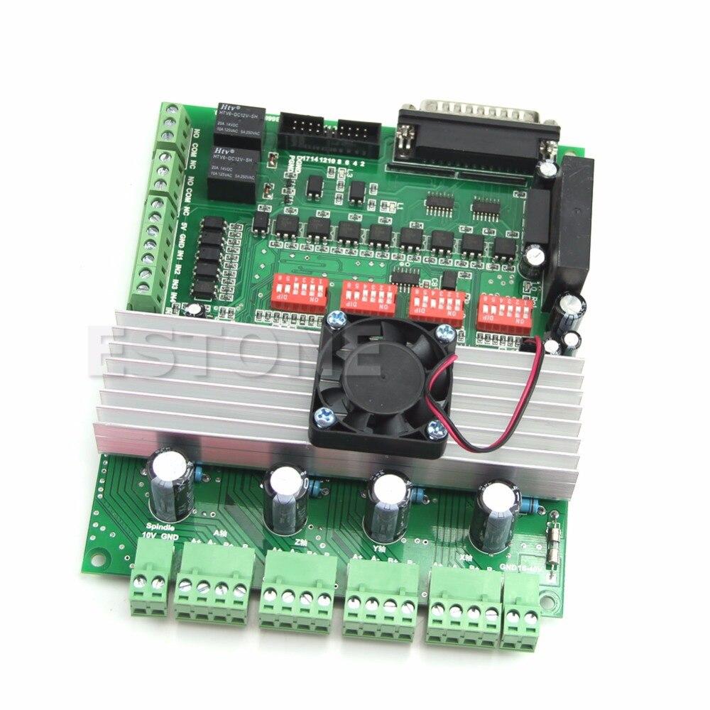 4 axes nouveau TB6600 contrôleur de CNC Max courant 5A 36 V moteur pas à pas carte pilote