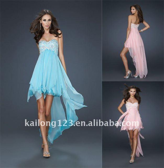 on sale ceeec 899f4 Kleid vorne kurz hinten lang turkis | Trendige Kleider für ...