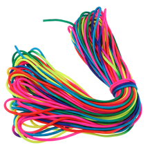 31M RainBow Paracord Polyester Climbing Rope Parachute Cord Outdoor Multi Tool Hiking Camping Equipment