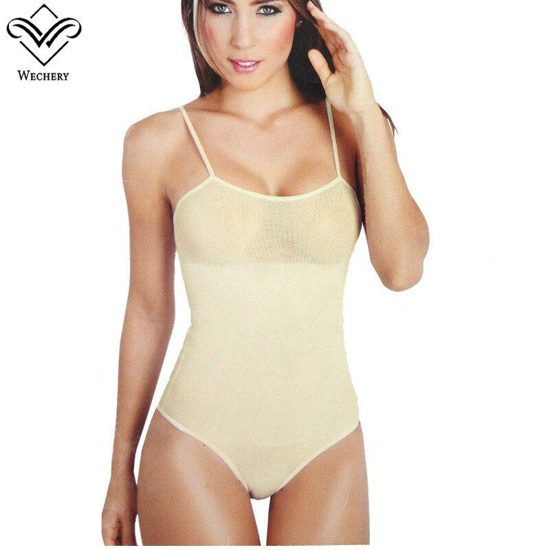 fbfcfd0c44 Wechery Body Shapers Bodysuits Cinta Modeladora Waist Trainer Strethcy backless  Sex Shapewears Corset Sexy Slimming Underwear