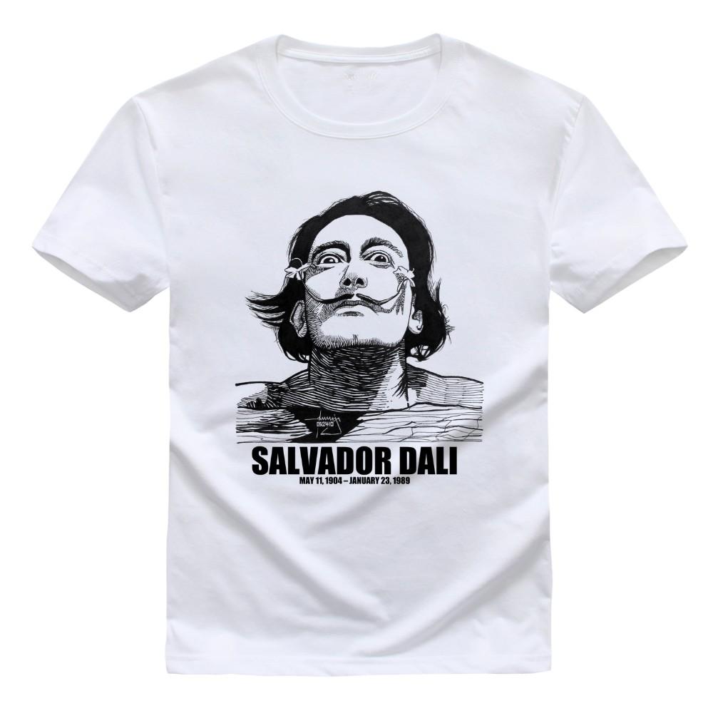 Salvador Dali Mens T Shirts 2016 Euro Size T Shirts DALI SALVADOR