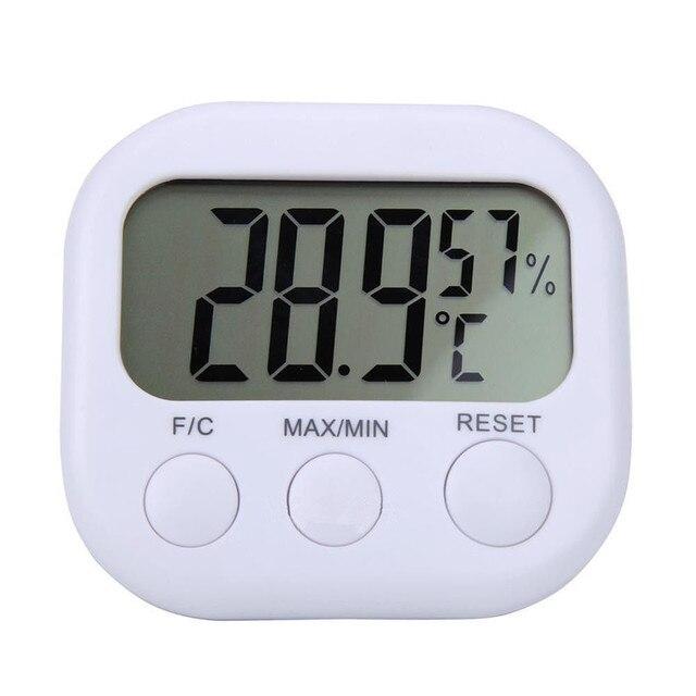 2018 Digital LCD Indoor Termometro Igrometro Calibro Clock Temperatura Misurator