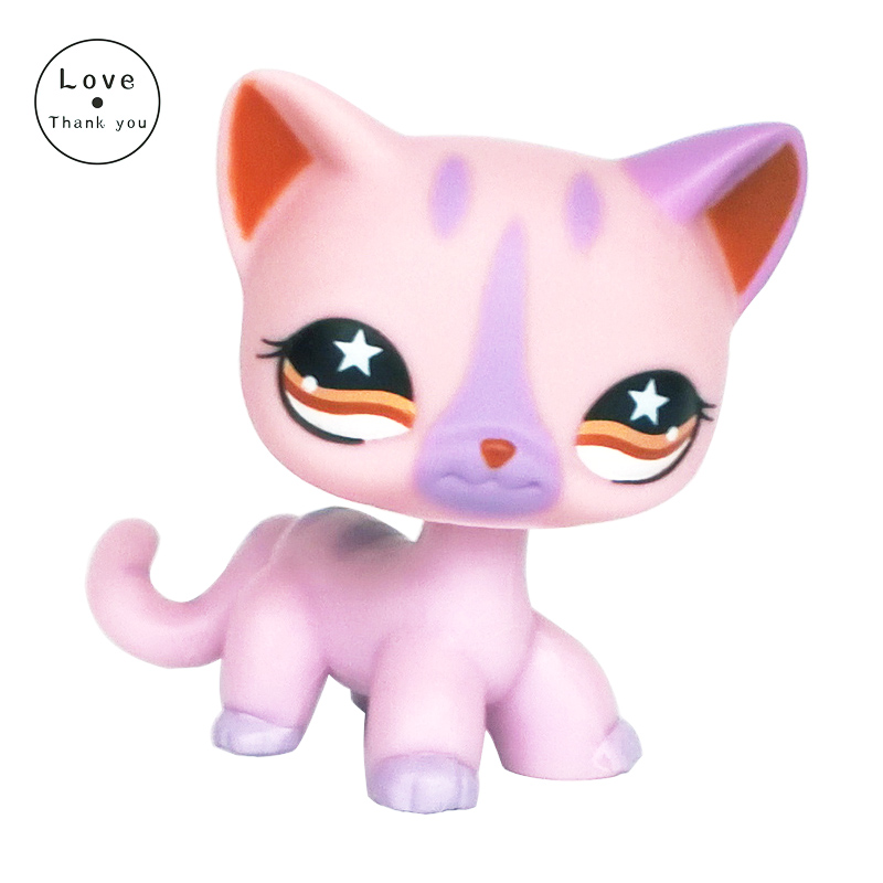 rare font b pet b font shop toys cat Short Hair standing 933 Purple animal kitten