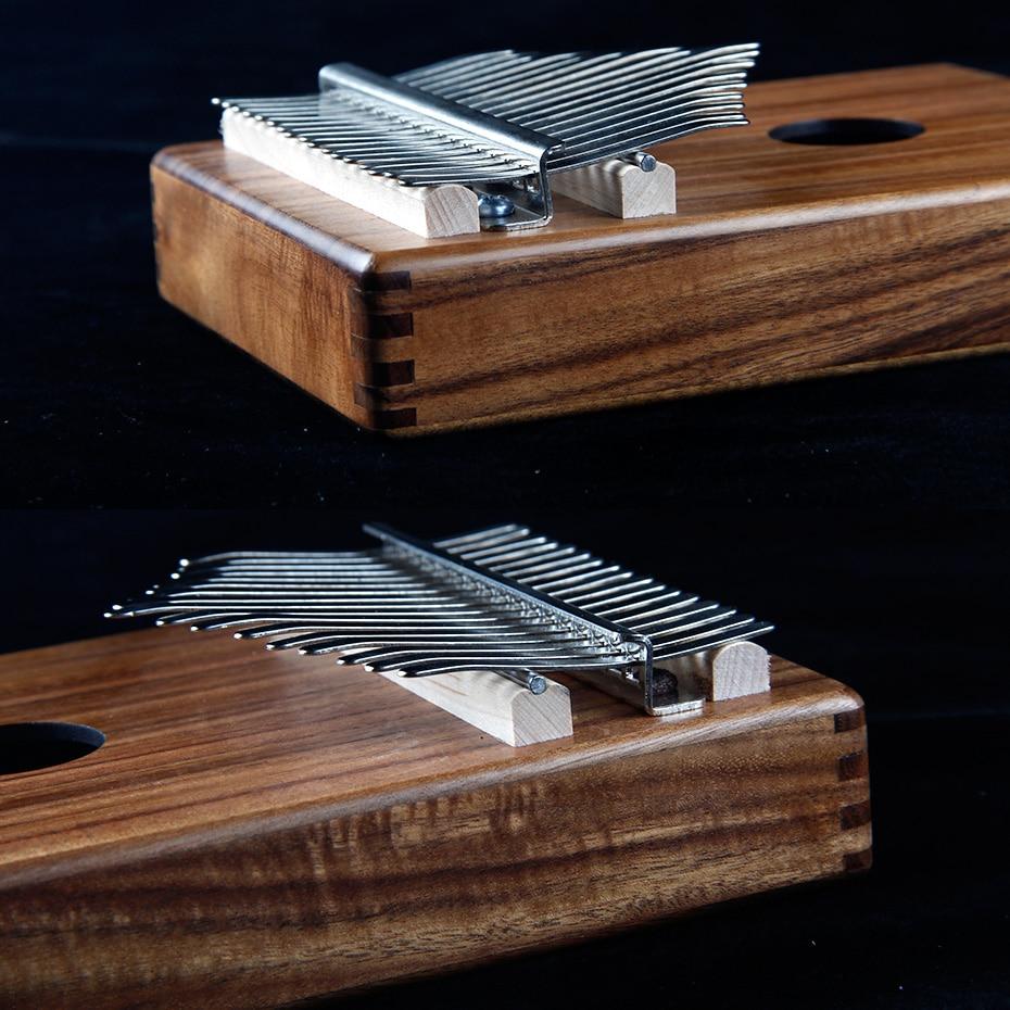 BATESMUSIC planche unique Kalimba pouce Piano17 sons en bois Portable doigt Piano ACACIA bois - 3