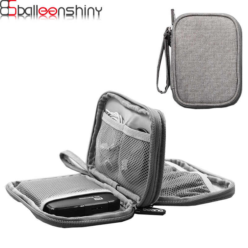 BalleenShiny Multifunction Digital Storage Bag Empty USB Data Cable Earphone HDD Organizer Portable Travel Kit Case Pouch