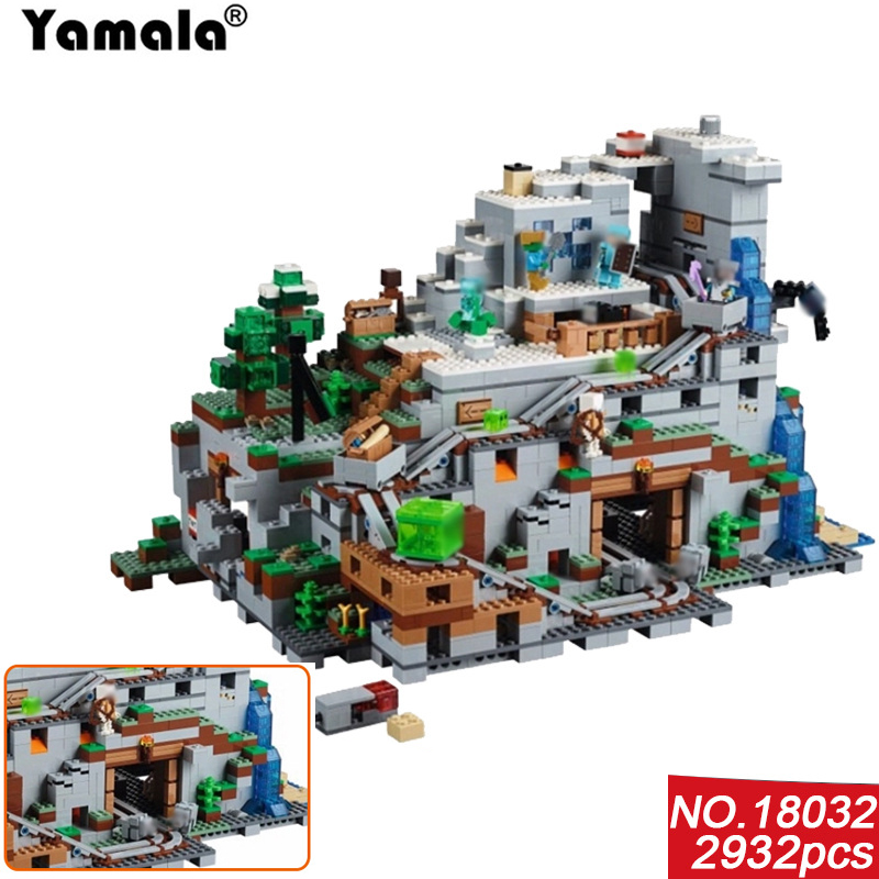 [Yamala]Model Building Kit Blocks Bricks Miniecraft 2932pcs The Mountain Cave My worlds Compatible with legoing Gift  For T уэллс г война миров the war of the worlds