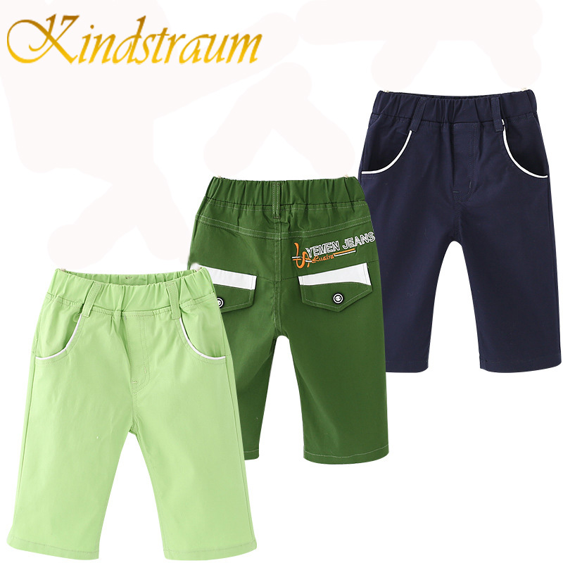 Kindstraum 2017 New Fashion Boys Shorts Cotton 4 Colors Summer Kids Casual Pants Solid School Trousers For Chidren, MC503
