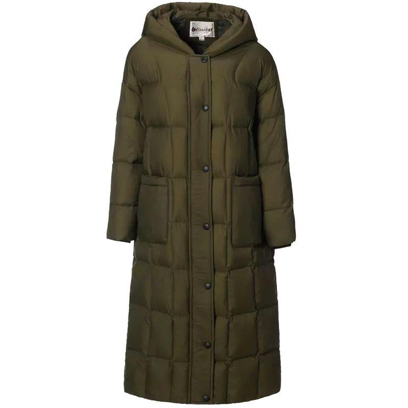 À Plus Hiver 2017 Army Taille Parka Capuchon Épaississement Femelle Manteaux Le Large Femmes 3xl Duvet La Canard Vestes Green M ~ Récent Boutons Survêtement De wOEwq