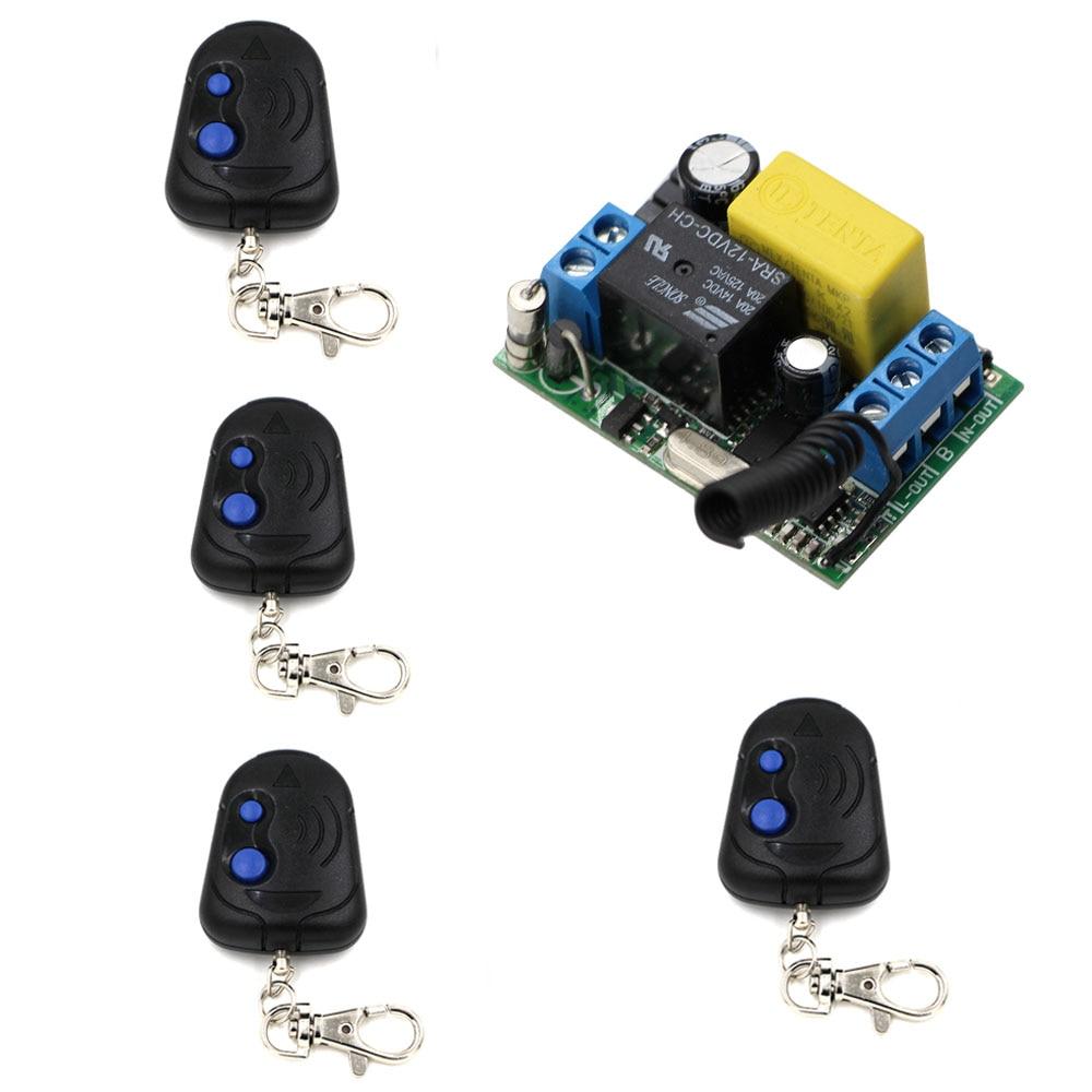 Новый продукт <font><b>Smart</b></font> Беспроводной удаленного коммутатора 220 В Мощность переключатель Системы приемник и 4 передатчика 10A свет лампы светодиодн&#8230;