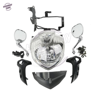 1 Set Motorcycle Headlight Head Light Side Mirror Assembly Kit case for YAMAHA FZ6S FZ6N FAZER 2007 2008 2009