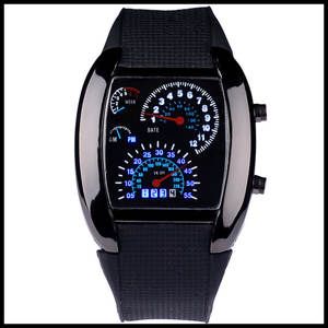 Fashion Watch Sports Clock-Hours New-Arrival Strap Car-Meter Dial Race-Speed Male Silicone