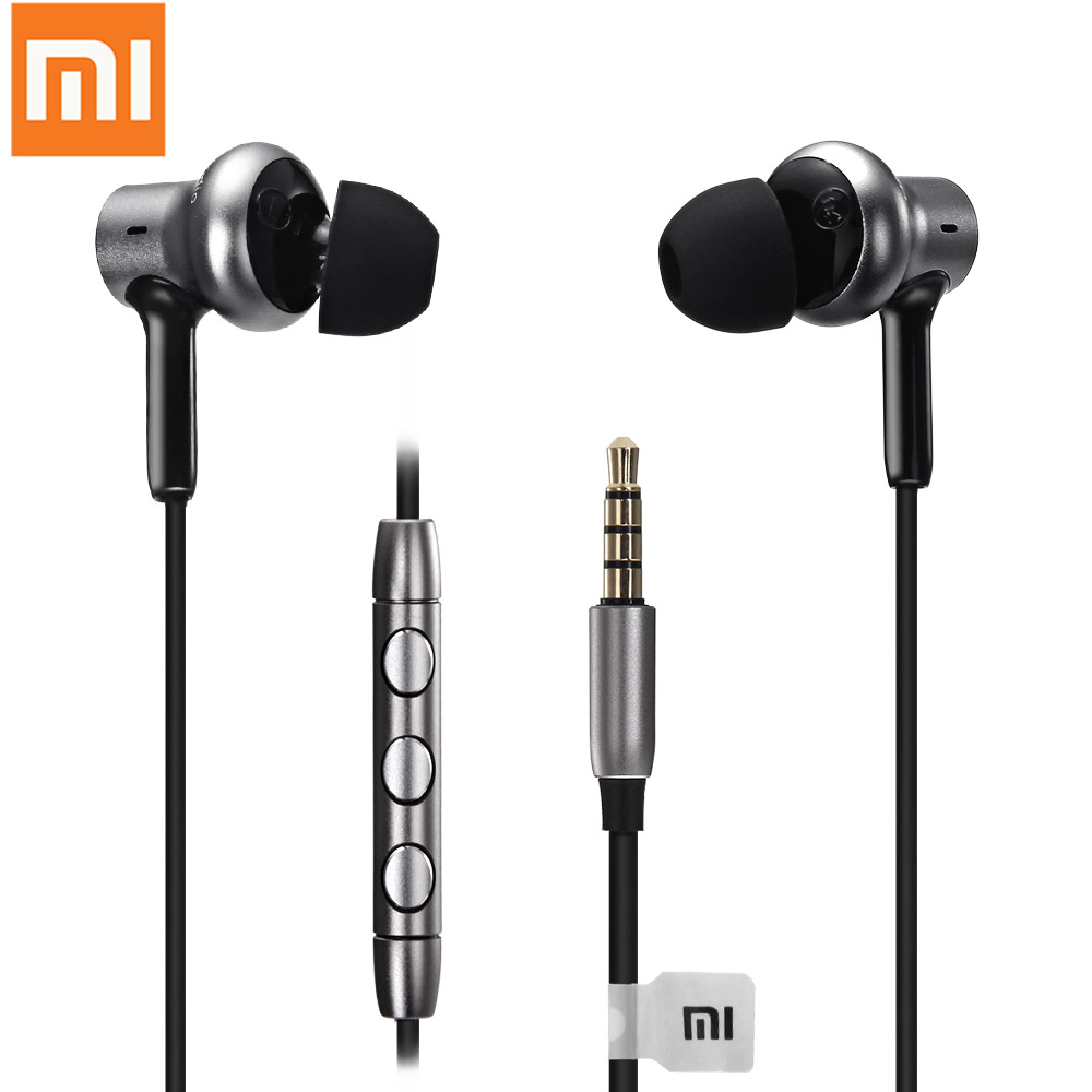 Xiaomi QTEJ02JY In-ear Earphones Piston 4 with MIC Dual Drivers Wired Control for Android iOS Earphones For Cell Phone 1.25m original xiaomi 1more piston classic in ear wired earphones gold