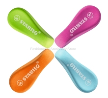 2 Pcs/Lot Stabilo 1189 EASYergo Rubber Eraser Cute Style Design Easy to Grab Soft Rubber Erase Cleanly